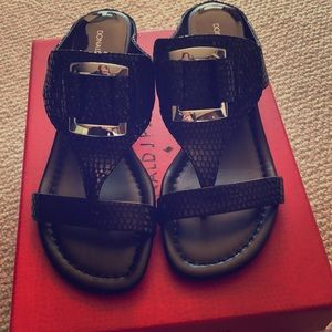 Shoes - Donald J. Pliner Duan Sandals Black Patent/Snake